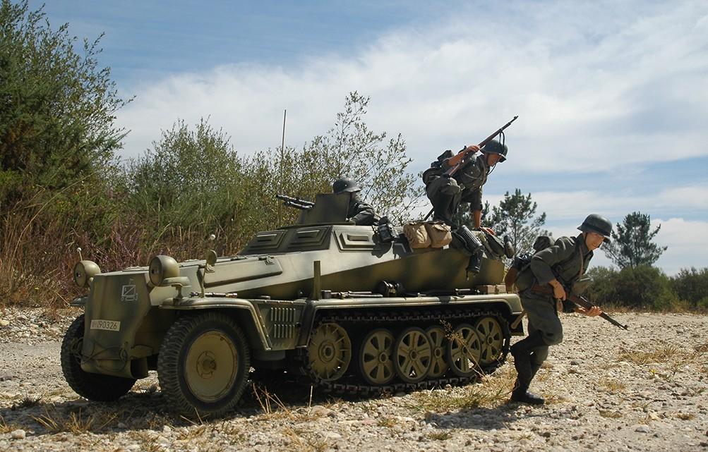 SdKfz 250 y panzergranaderos