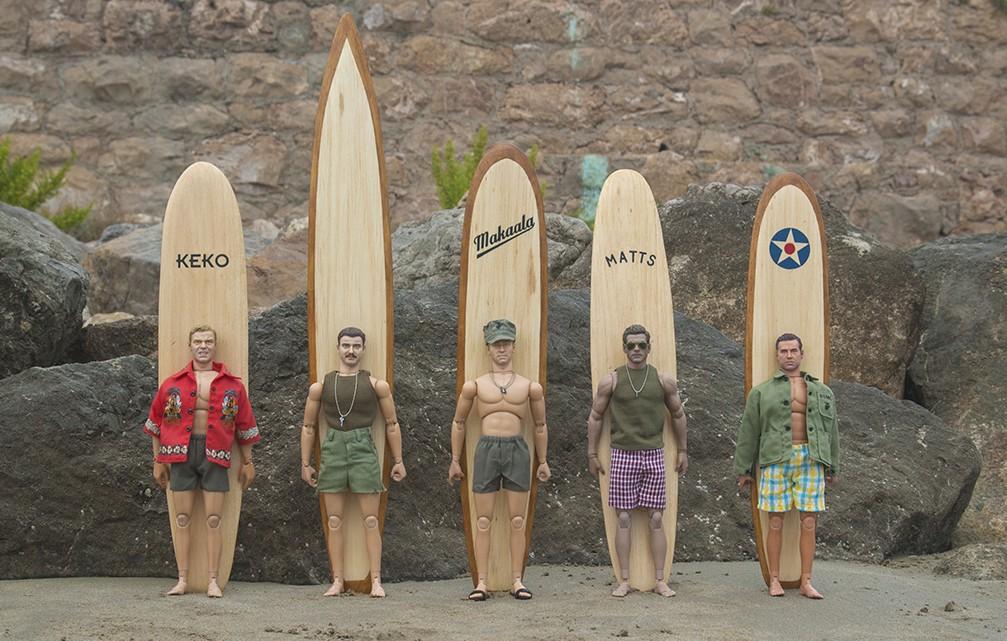 Surferos en Hawai