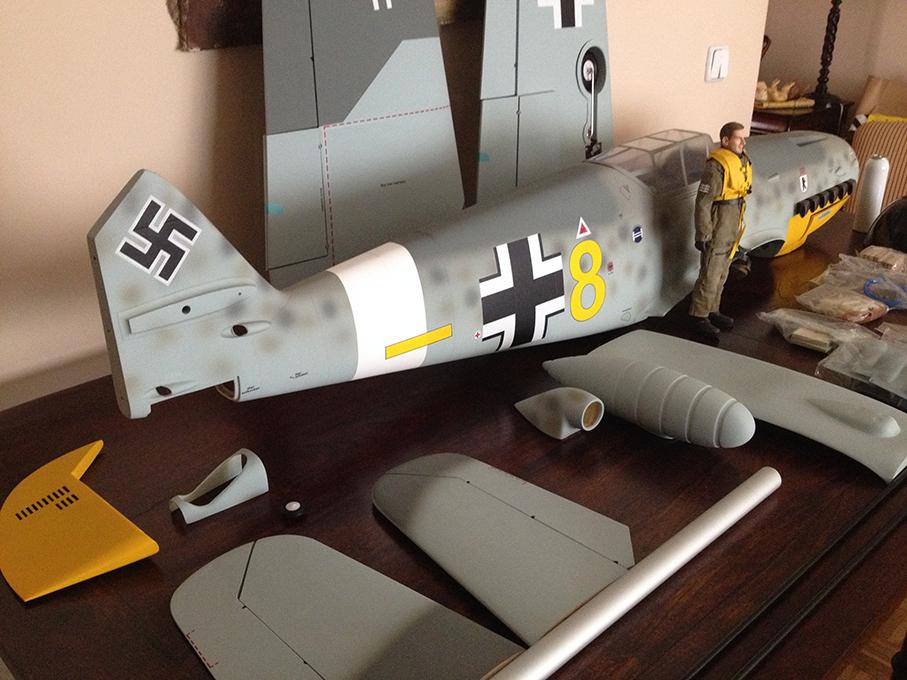 Trasera lateral del Me Bf 109F