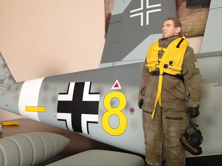 Piloto con el Me Bf 109F