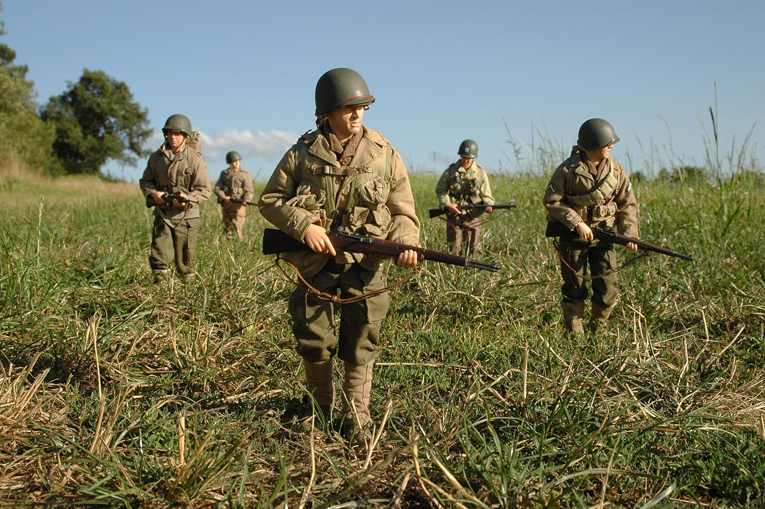 De patrulla en Normandía
